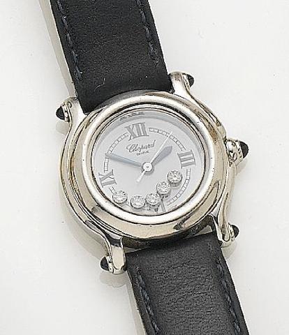Chopard. A lady's stainless steel quartz wristwatchHappy Sport, Recent