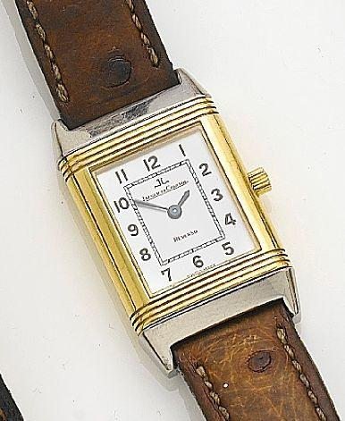 Jaeger-LeCoultre. A lady's stainless steel and gold quartz wristwatch Reverso, Case No.260.5.08