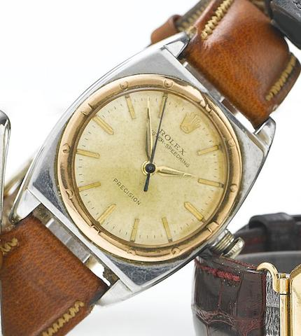Rolex. A stainless steel manual wind wristwatch1940's