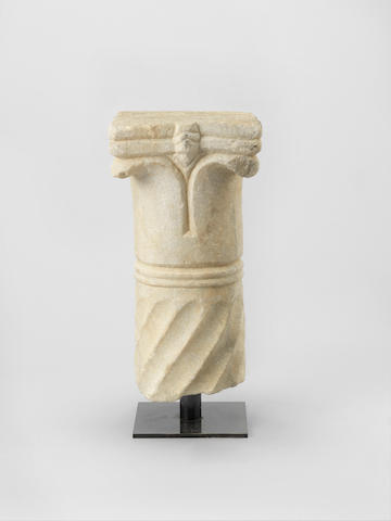 A carved marble Capital Probably Persia, 16th/ 17th Century