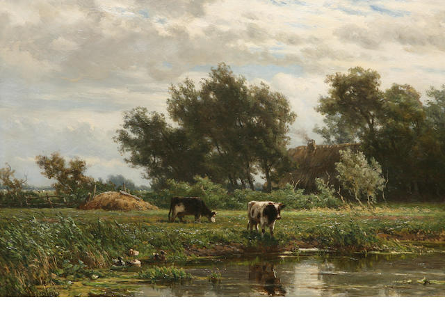 Jan Willem van Borselen (Dutch, 1825-1892) The meadow