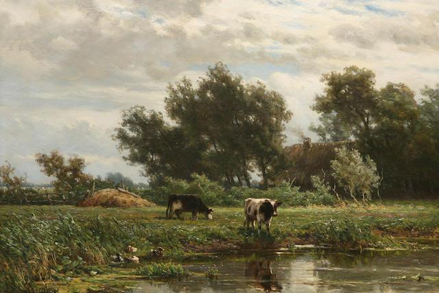 Jan Willem van Borselen (Dutch, 1825-1892) The meadow