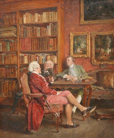 Carl Wilhelm Anton Seiler (German, 1846-1921) An interesting tale