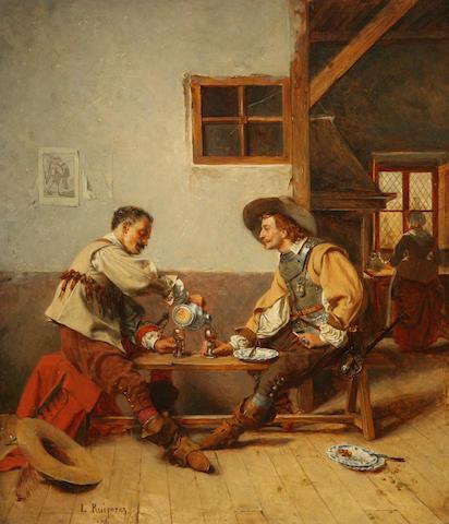 Luis Ruiperez (Spanish, 1832-1867) Welcome refreshment