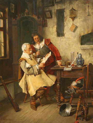 Carl Wilhelm Anton Seiler (German, 1846-1921) The dispatch