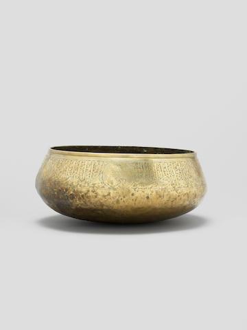A large Mamluk brass Bowl