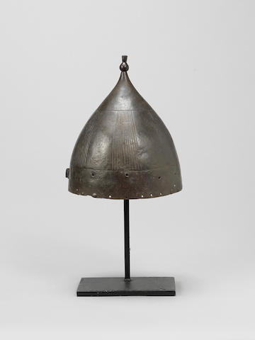 An Ottoman steel Helmet with mark of Eirene