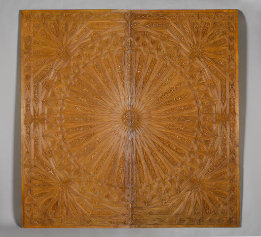 An Ottoman wood Ceiling North Africa, 19th Century or later(2)