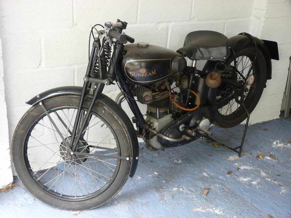 1930 Sunbeam 493cc Model 9 Frame no. D9326 Engine no. LL5235