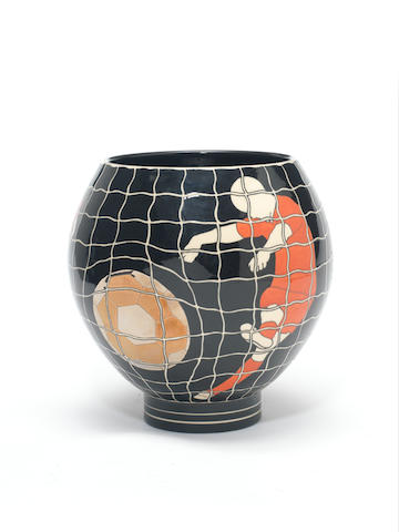 Buchan Dennis 'Football', a Bulbous Vase, 2010