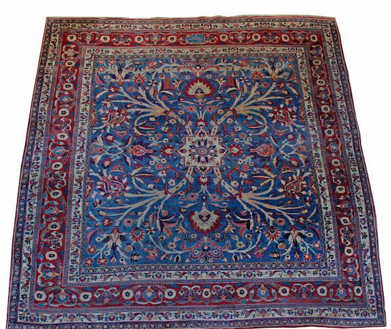 A Meshed carpet 335 x 273cm