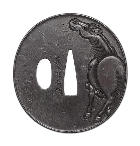 An iron tsuba Mito School, 19th century
