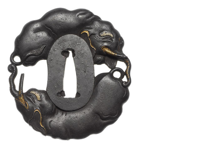 An iron tsuba Choshu School, late 18th/early 19th century