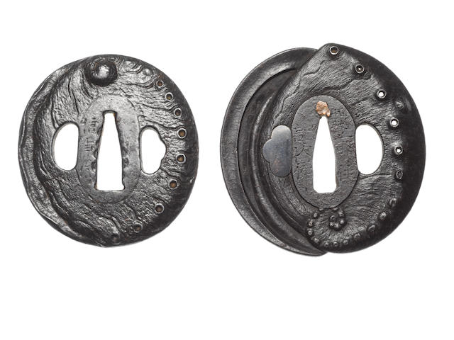 Two iron tsuba Echizen School, 18th century