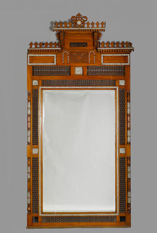 Large Moorish M O P Inlaid Overmantel plus box of cornices (5)