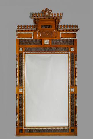 Large Moorish M O P Inlaid Overmantel plus box of cornices (5)