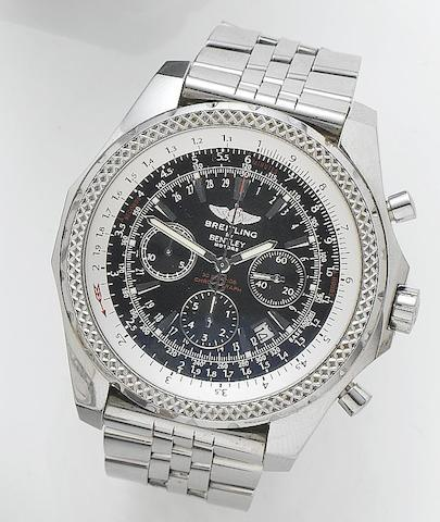 Breitling. A stainless steel automatic chronograph wristwatch For Bentley, Reference A25362, Case Number 2078023, Recent