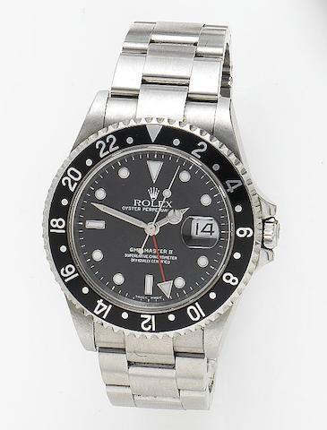 Rolex. A stainless steel automatic dual time zone wristwatchGMT-Master II, Reference 16710, Case Number F767252, Circa 2003