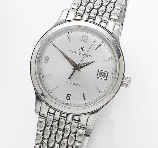 Jaeger-LeCoultre. A stainless steel automatic bracelet watch with date Master Control, Ref. 140.8.89, Number 11098, Recent