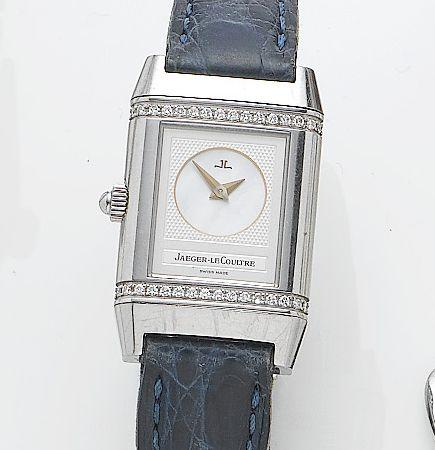Jaeger-LeCoultre. A lady's stainless steel manual wind wristwatch Duetto Reverso, Ref. 266.8.44, Case No. 1862253, Recent