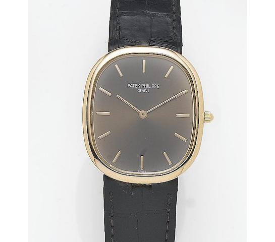Patek Philippe. A fine 18ct rose gold automatic wristwatchEllipse, Recent