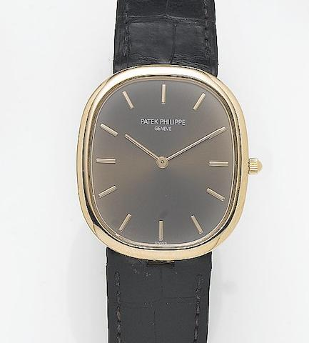 Patek Philippe. A fine 18ct rose gold automatic wristwatchEllipse, Recent