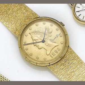 Bueche Girod. An 18ct gold manual wind wristwatch Circa 1970,