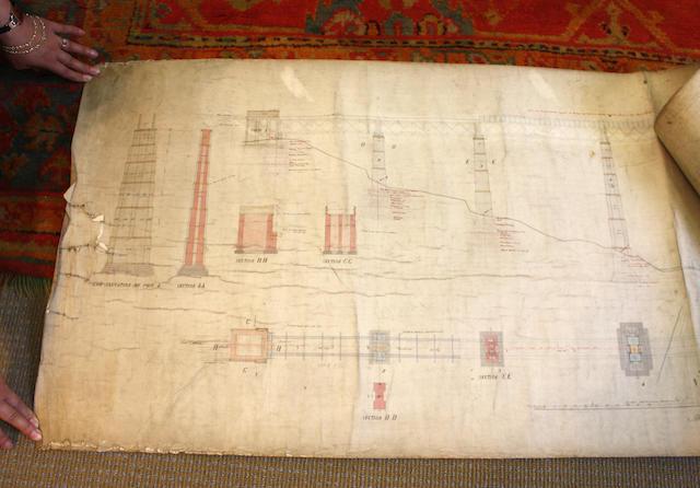 Caledonian Railway Larkhall ViaductDrawing No 9 of the Railway Plan