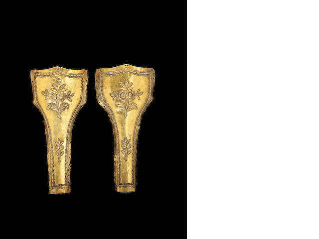 A pair of Ottoman silver-gilt Pistol Holsters Egypt, period of Abdulmecid (AH 1255-77/AD 1839-61)(2)