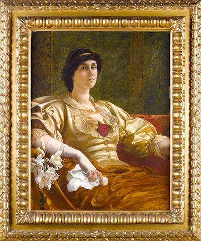 Sir William Blake Richmond, RA (British, 1842-1921) Portrait of Ethel Bertha Harrison