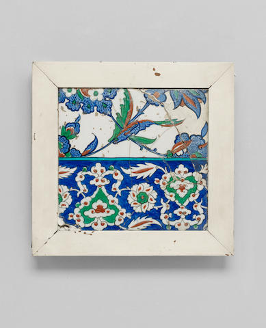An Iznik pottery Tile Turkey, circa 1570