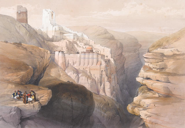 David Roberts, RA (British, 1796-1864) A set of lithographs from The Holy Land series 5 full folio, 49.5 x 34.5cm. (19 1/2 x 13 1/2in).; 9 half-folio, approx. 25 x 33cm. (10 x 13in). each unframed