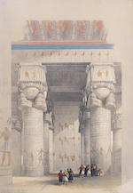 David Roberts, RA (British, 1796-1864) A set of lithographs from Egypt & Nubia series  11 full folio, 49.5 x 34.5cm. (19 1/2 x 13 1/2in).; 5 half-folio, approx. 25 x 33cm. (10 x 13in). each unframed