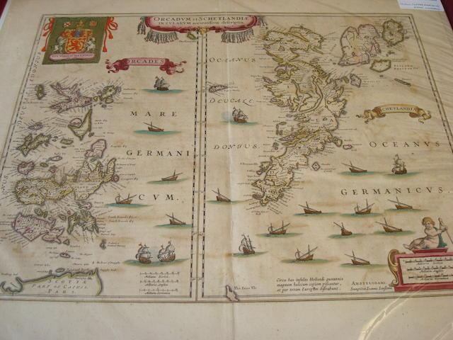 MAPS - ORKNEY and SHETLAND [HONDIUS (HENRY)] Orcadum et Schetlandiae Insularum accuratissima descriptio