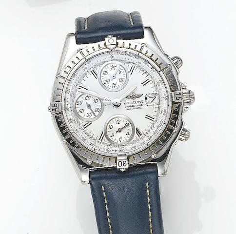 Breitling. A stainless steel automatic chronograph wristwatch Chronomat, Ref.692416, Serial No.E17370, Sold 21st February 2004