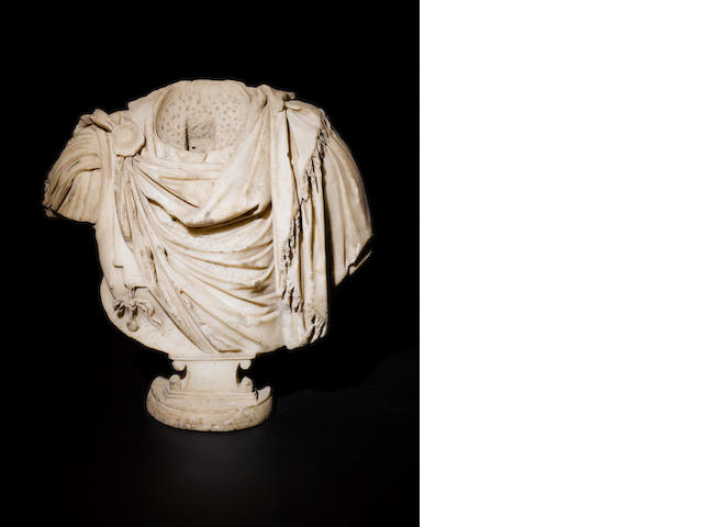 A Roman marble bust of an Emperor