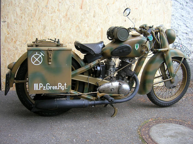 1943 DKW NZ 350 Frame no. 609164 Engine no. ZK 23273