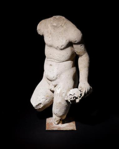 A Roman marble torso