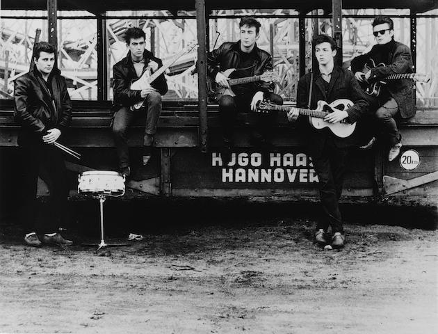 Astrid Kirchherr (German, born 1938) The Beatles, Hamburg Fun Fair, Heiligengeistfeld, 1960 46 x 60.5cm (18 1/8 x 23 13/16in).