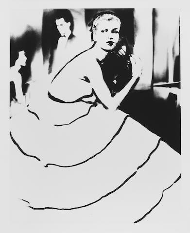 Lillian Bassman (American, born 1917) Born to Dance, Margie Cato, dress by Emily Wilkins, New York, 1950 Paper 60.7 x 50.6cm (23 7/8 x 19 7/8in), image 55.9 x 44.4cm (22 x 17 1/2in)