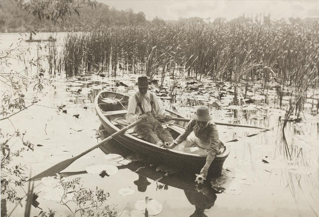 Peter Henry Emerson (British, 1856-1936) Gathering Water-Lilies, 1886, Plate IX from Life & Landscape on the Norfolk Broads 19.8 x 29.2cm (7 13/16 x 11 1/2in).
