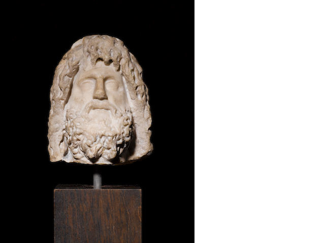 A Roman marble head of Zeus-Serapis - NEEDS PROVENANCE