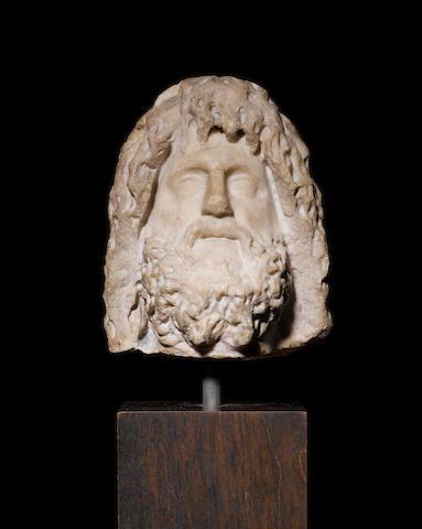 A Roman marble head of Zeus-Serapis - NEEDS PROVENANCE