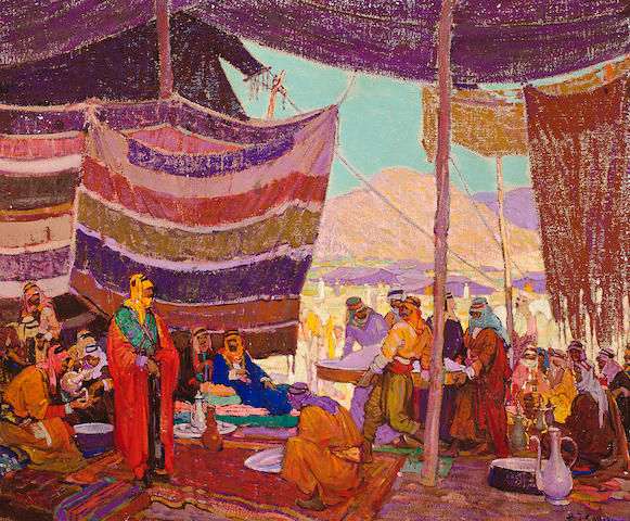 (n/a) Henry James Soulen (American, 1888-1965) Hajj camp, en route to the Masjid al-Haram