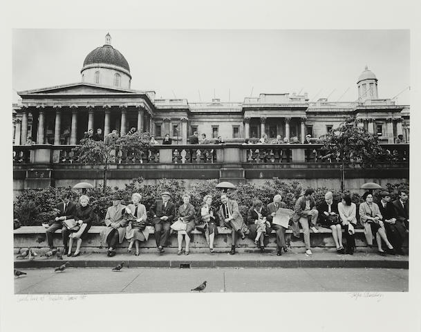 Jürgen Schadeberg (South African, born 1931) Lunch Time at Trafalgar Square, 1967 Paper 48.6 x 60.6cm (19 1/8 x 23 7/8in), image 37.8 x 56.8cm (14 7/8 x 22 3/8in).
