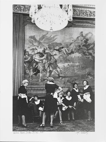 Jürgen Schadeberg (South African, born 1931) Waitress Break, London City Hall, 1979 Paper 50.5 x 39cm (19 7/8 x 15 3/8in), image 45 x 29cm (17 3/4 x 11 3/8in).