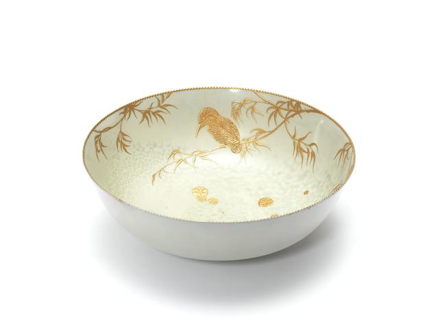 Doulton Burslem A good Titanian Bowl in Raised Paste Gilt, circa 1920