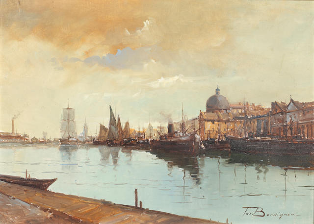 Toni Bordingnon (Italian 1921) - Venice, oil on canvas