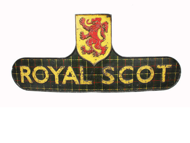 Royal Scot locomotive headboard