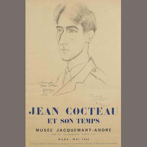 After Pablo Picasso A poster for 'Jean Cocteau et Son Temps' Musee Jacquemart-Andre, Paris, Mars-Mai 1965